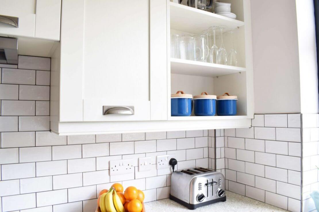 Sheffield Sustainable Kitchens blue and white shaker new kitchen