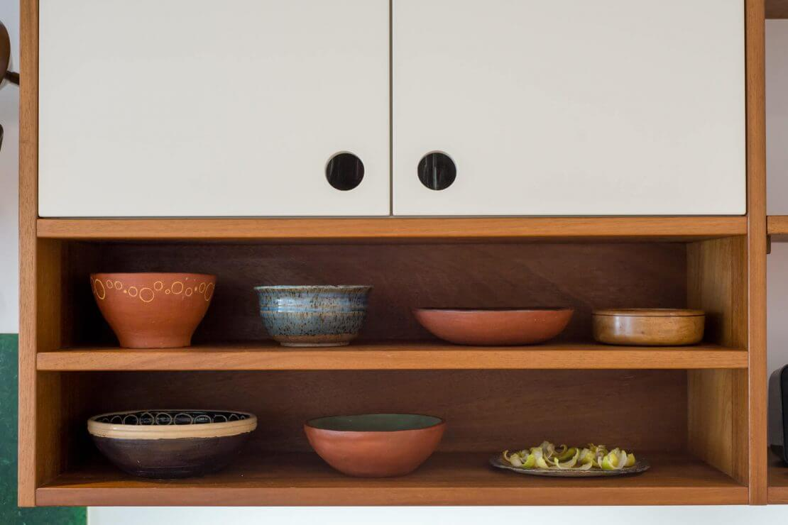 scandi style new kitchen with open shelving