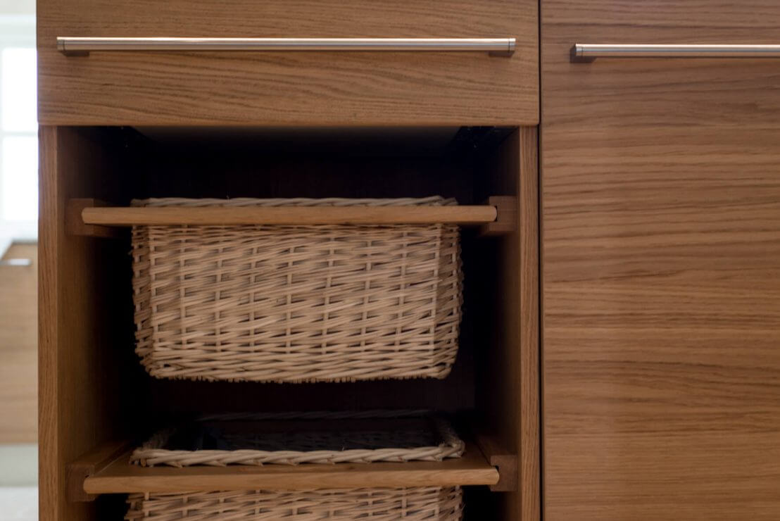 basket drawers in new kitchen