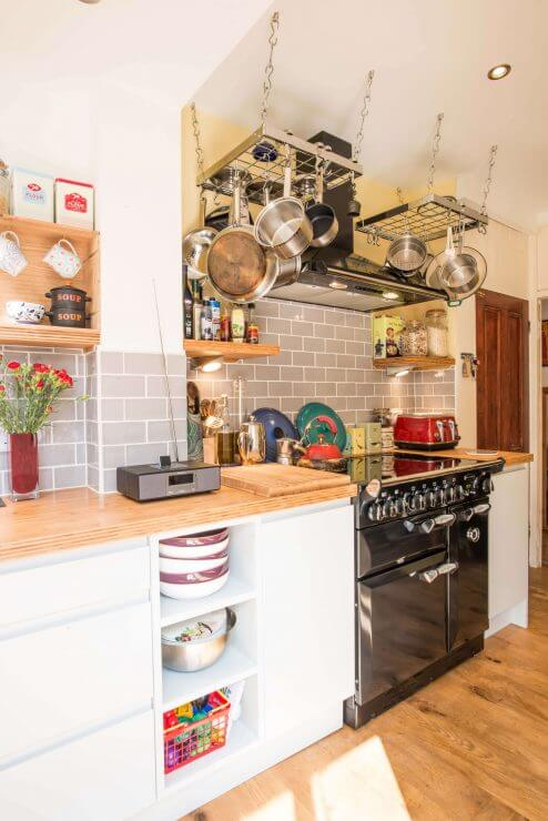 compact new kitchen with rangecooker