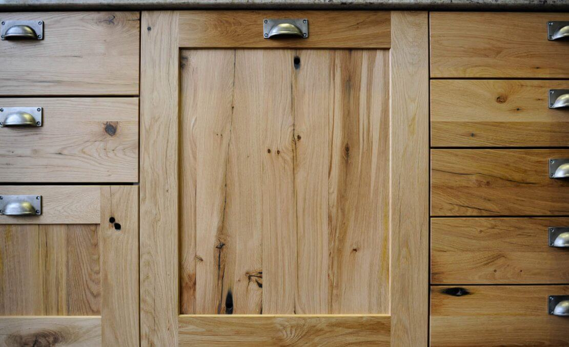 reclaimed oak new kitchen cupboard doors and drawer fronts