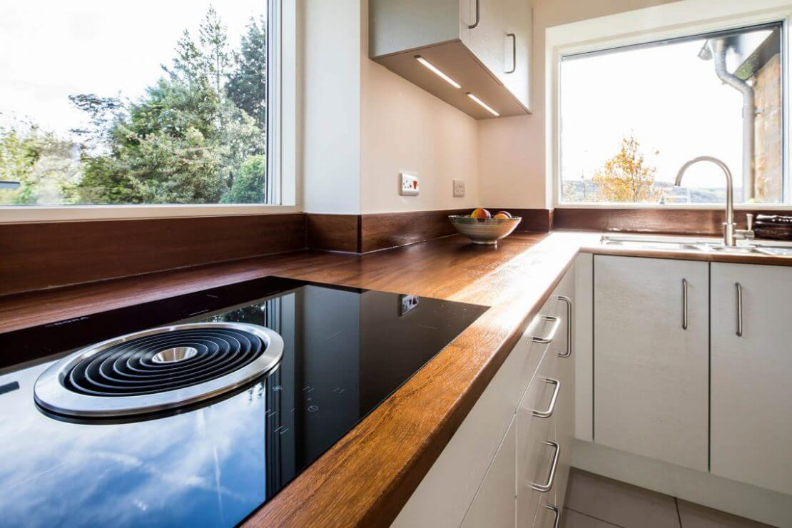 induction hob with integrated extractor in Sheffield Sustainable Kitchen