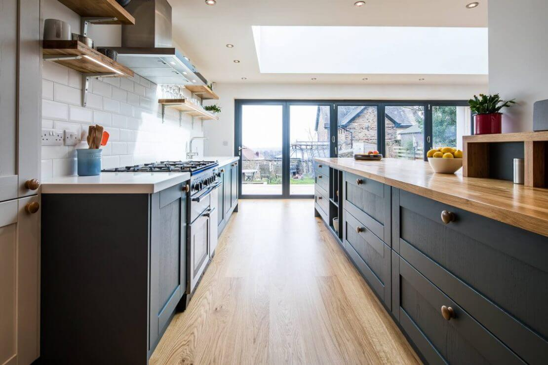 Contemporary Oak Sheffield Sustainable Kitchens