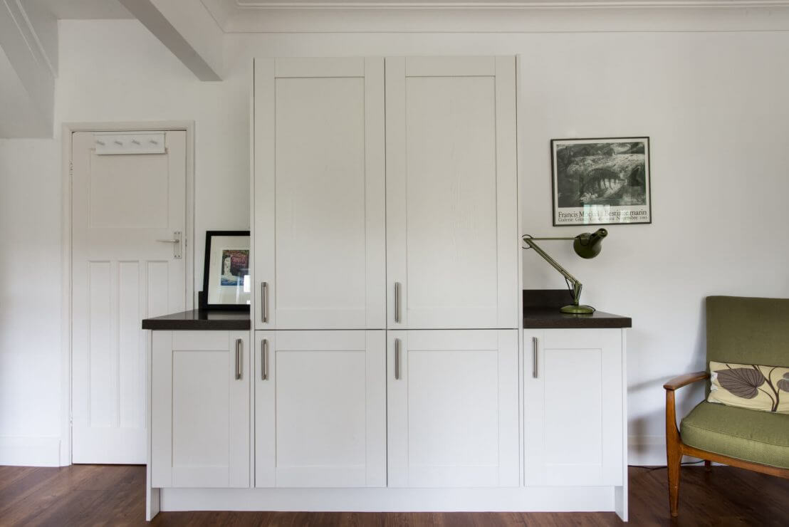 shaker cupboards in new kitchen