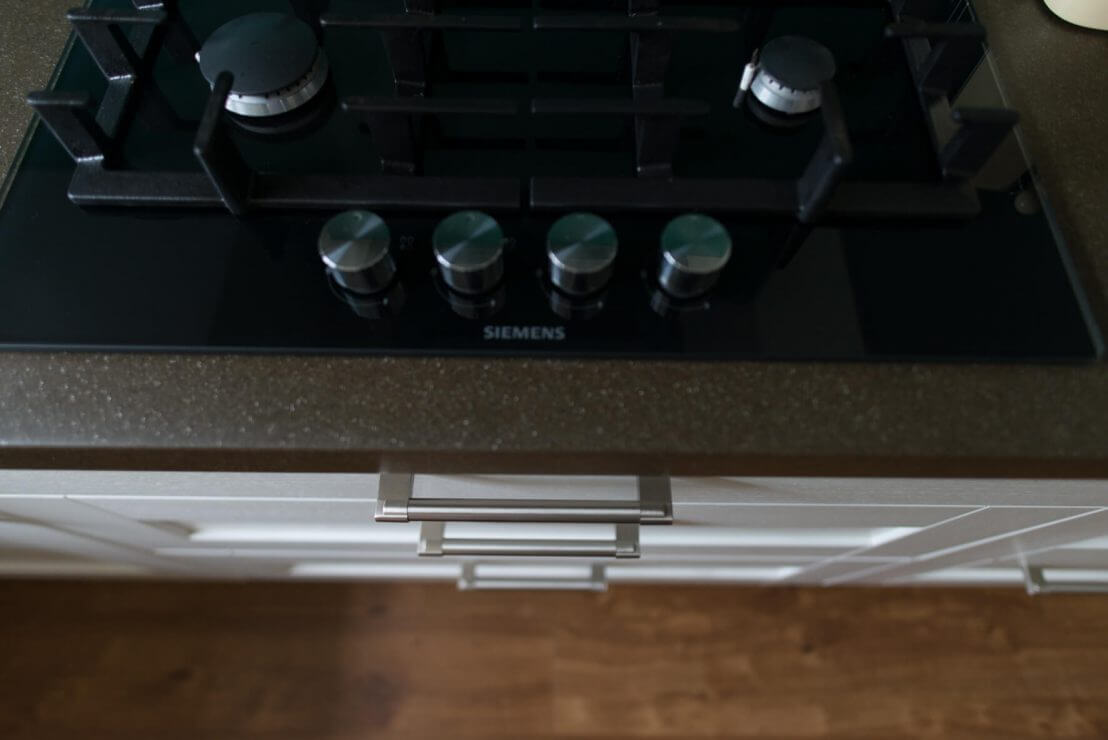 gas hob and new kitchen drawers