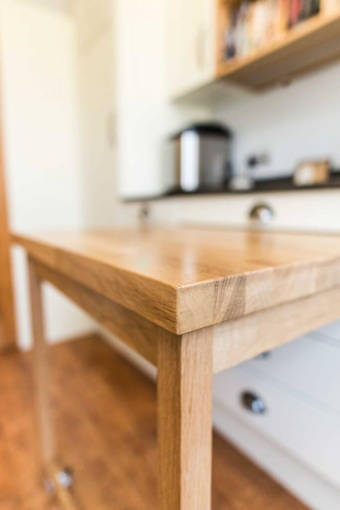solid oak kitchen pullout table