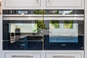 Sheffield Sustainable Kitchens Cool Blue new kitchen with siemens ovens