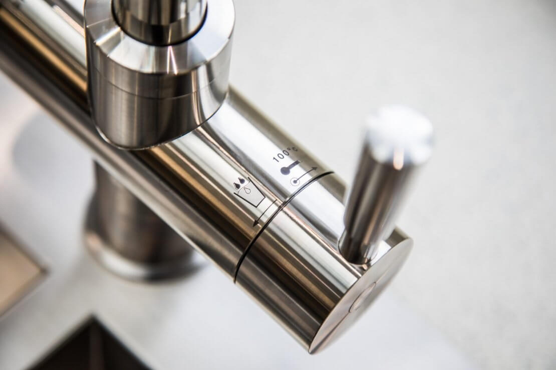 stainless steel boiling water tap