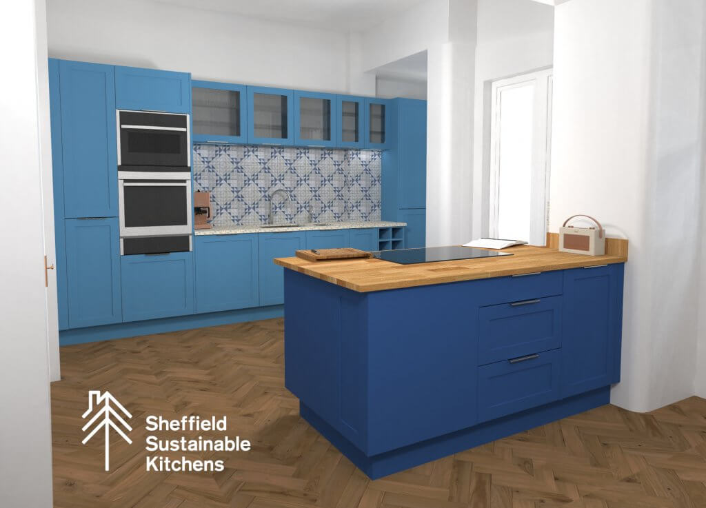 render of Manchester kitchen design