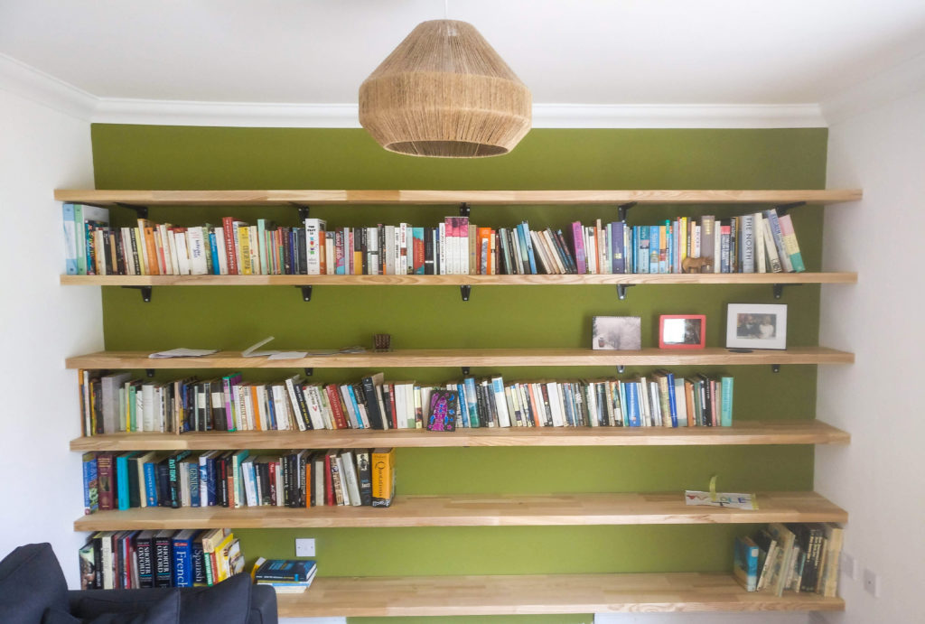 bespoke timber shelving and book shelves