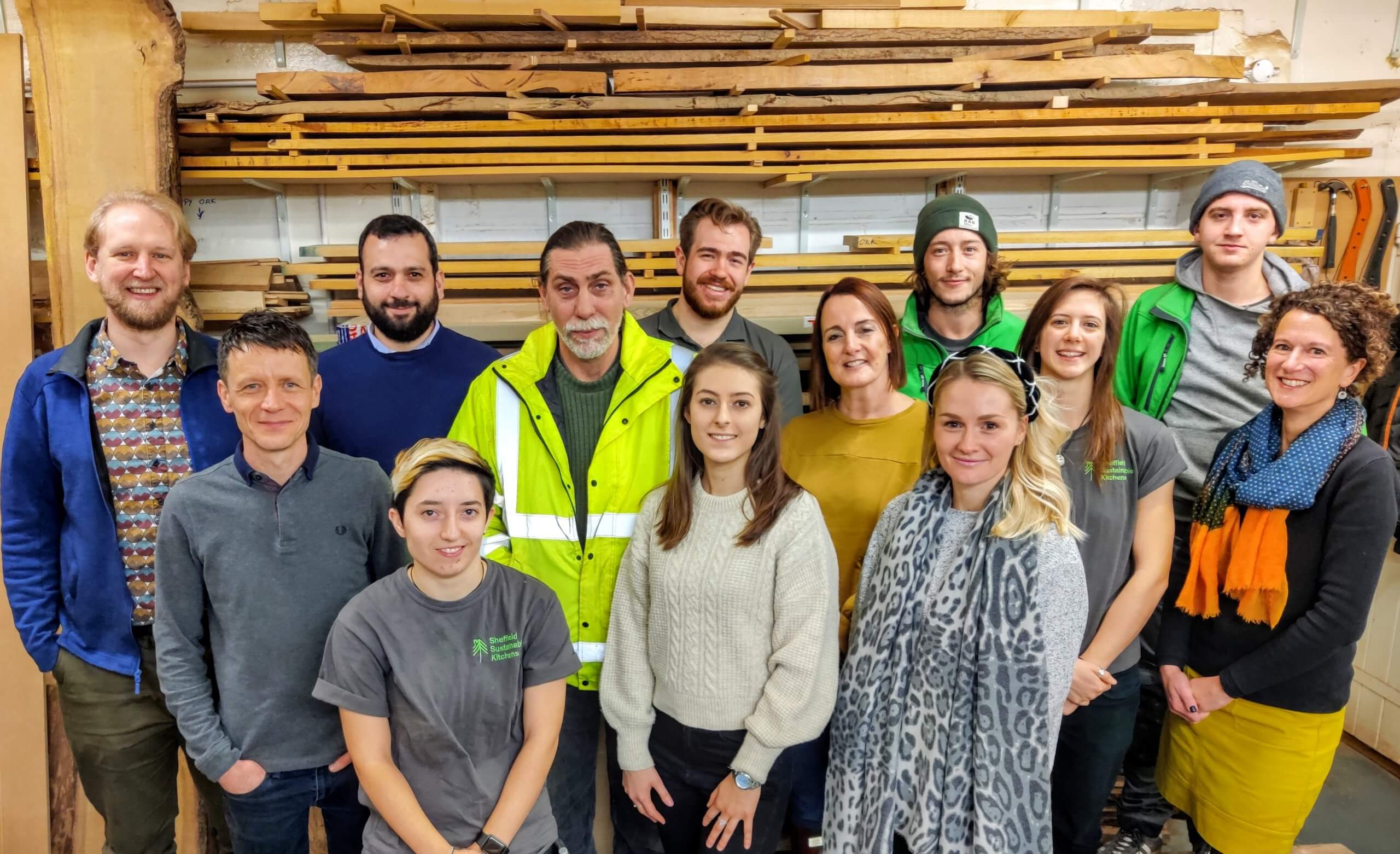 Team at Sheffield Sustainable Kitchens