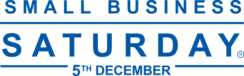 small business saturday UK logo in white