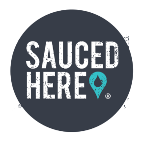 sauced here logo