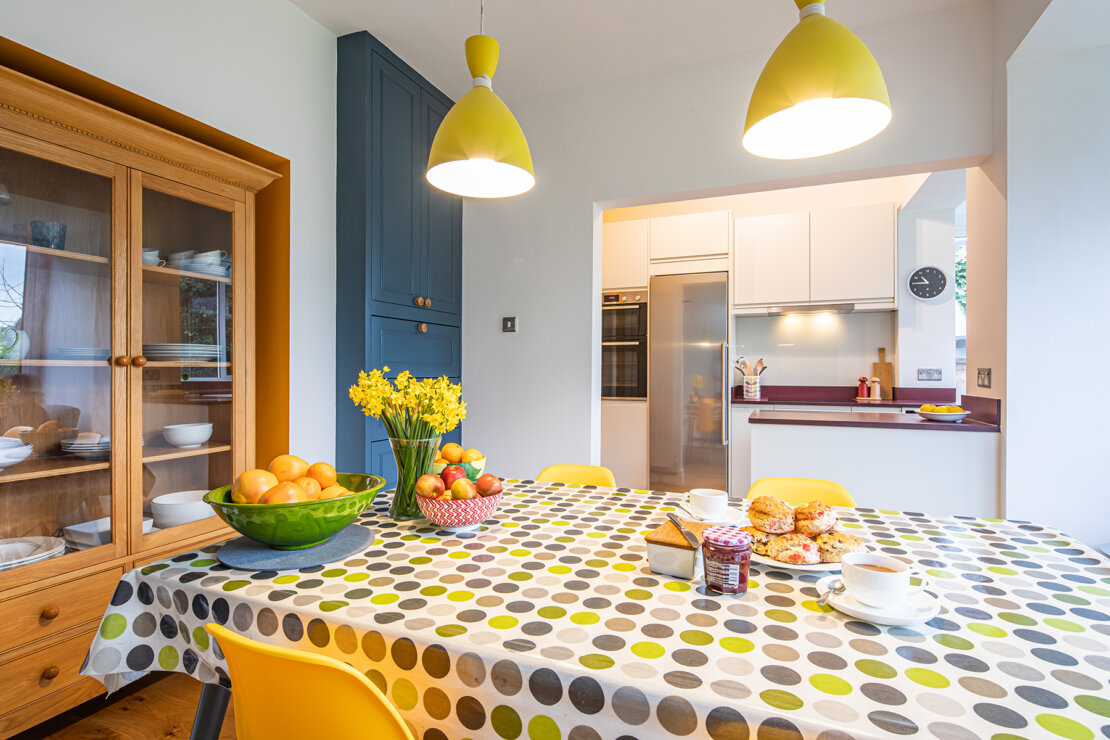 dining area with colour
